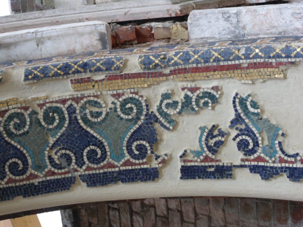 St George's project - restored arch detail mosaic