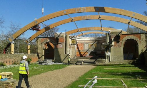 St George's project - canopy in progress