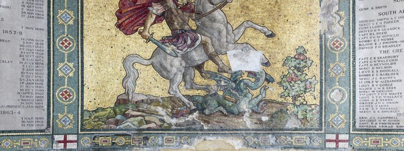 St George's project - mosaic detail 3 Historic England