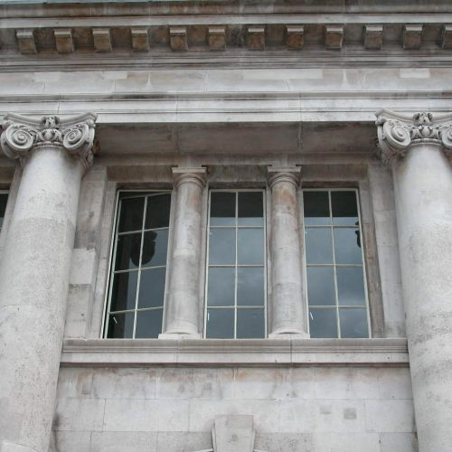 Poplar Library project - front elevation detail after