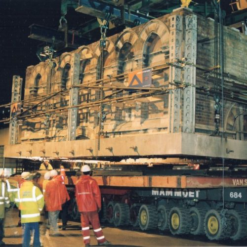 St Pancras Waterpoint project - lower section on trailer