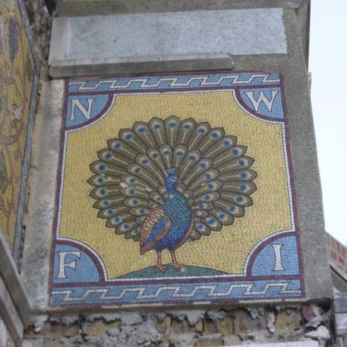 St George's project - restored peacock mosaic