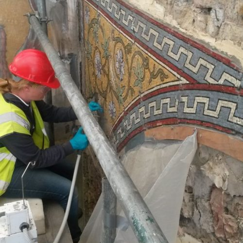 St George's project - Skillingtons cleaning mosaic