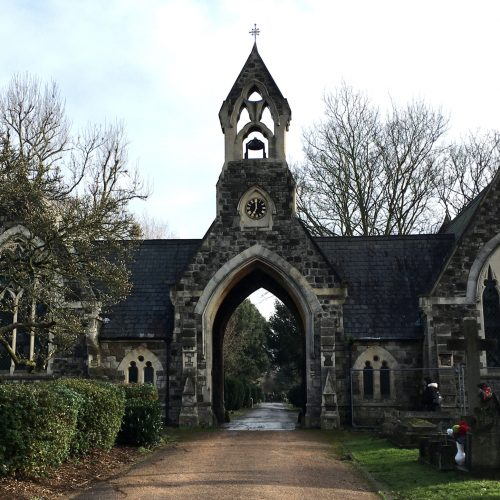 South Ealing Cemetery Chapel project - front elevation (edited exposure)